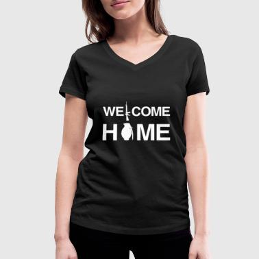 Isaf Welcome Home Soldier Veteran Use ISAF Gift - Women's Organic V-Neck T-Shirt by Stanley & Stella