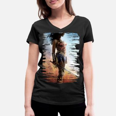 Héros Warner Bros Wonder Woman Power Grace Wisdom - T-shirt bio col V Stanley & Stella Femme