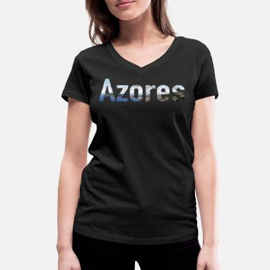 Azores Azores shirt - Women's Organic V-Neck T-Shirt by Stanley & Stella
