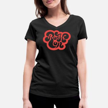 Rock Chic Rock On (Red Edition) - Women's Organic V-Neck T-Shirt by Stanley & Stella
