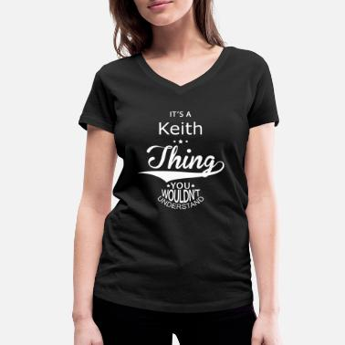 Keith Keith - Women's Organic V-Neck T-Shirt by Stanley & Stella