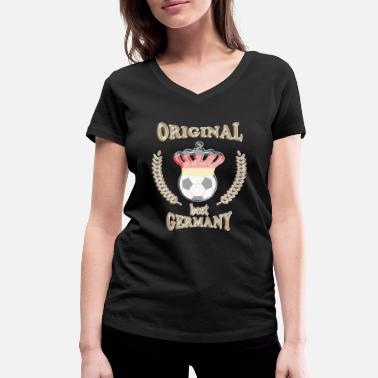 Best Football Football, Original best Germany - Women's Organic V-Neck T-Shirt by Stanley & Stella