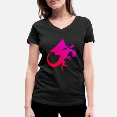 Red Dragon Red Dragon - Women's Organic V-Neck T-Shirt by Stanley & Stella