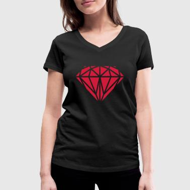 Diamant - Women's Organic V-Neck T-Shirt by Stanley & Stella