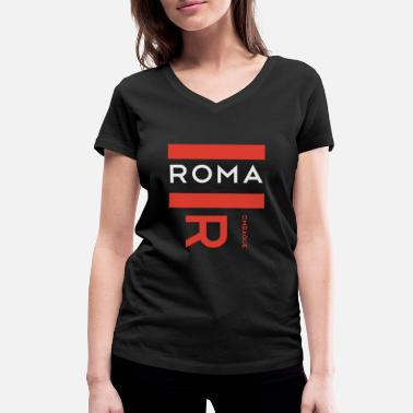 Aada Rombaque Roma Roma - Women's Organic V-Neck T-Shirt by Stanley & Stella