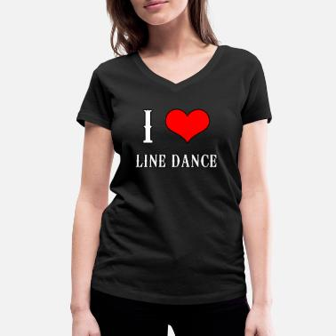 Line Dance Line Dance Shirt - Line Dance Country Music Amour - T-shirt bio col V Stanley & Stella Femme