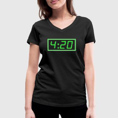 Pms 4:20 pm / 420 pm - Women's Organic V-Neck T-Shirt by Stanley & Stella