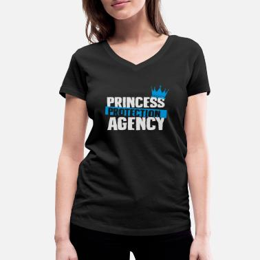 Protection Princess Protection agency - fathers day - Women's Organic V-Neck T-Shirt by Stanley & Stella