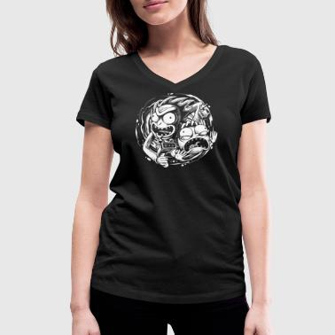 Rick And Morty Rick And Morty Time Warp Travels - Women's Organic V-Neck T-Shirt by Stanley & Stella