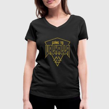 Viking Walhalla Norse mythology Odin Thor - Women's Organic V-Neck T-Shirt by Stanley & Stella
