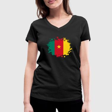 Cameroon Africa Cameroon blob / gift Flag Cameroon - Women's Organic V-Neck T-Shirt by Stanley & Stella