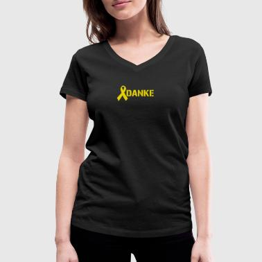 Yellow Ribbon Thank you Bundeswehr Army Yellow Ribbon - Women's Organic V-Neck T-Shirt by Stanley & Stella