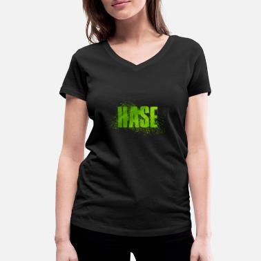 Hares Hare - Women's Organic V-Neck T-Shirt by Stanley & Stella