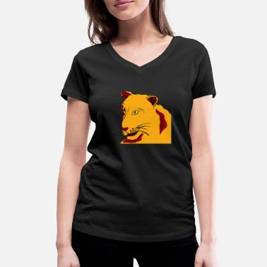 Lioness lioness - Women's Organic V-Neck T-Shirt by Stanley & Stella