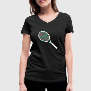 tennis racket - Women's Organic V-Neck T-Shirt by Stanley & Stella