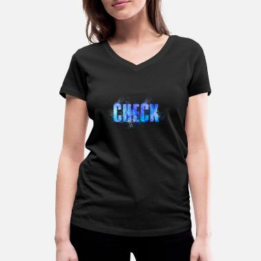 Checked check - Women's Organic V-Neck T-Shirt by Stanley & Stella