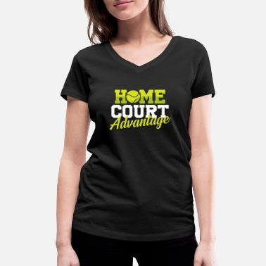 Advantage Home court advantage - Women's Organic V-Neck T-Shirt by Stanley & Stella