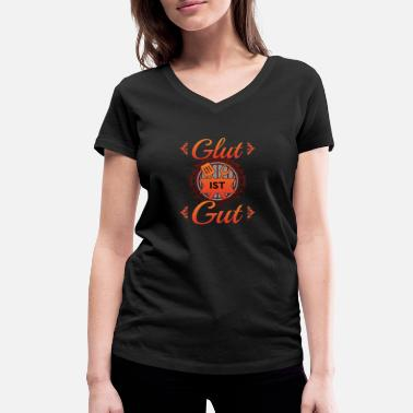 Glut Food Shirt • Ember is Good • Grill Gift - Women's Organic V-Neck T-Shirt by Stanley & Stella