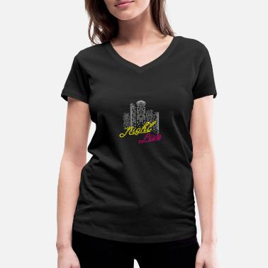 Saturday Night Live night live, club, music, disco - Women's Organic V-Neck T-Shirt by Stanley & Stella