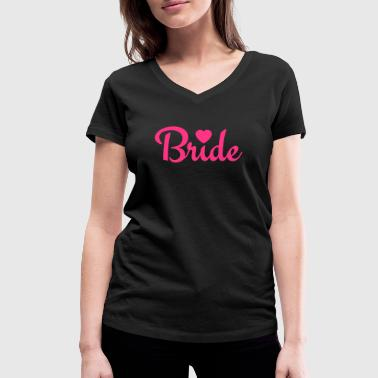 bride with heart 1c - T-shirt bio col V Stanley & Stella Femme