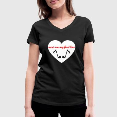First Love First love - Women's Organic V-Neck T-Shirt by Stanley & Stella
