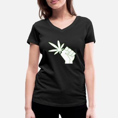 Legal Age CANNA - LEGALIZE IT - Women's Organic V-Neck T-Shirt by Stanley & Stella