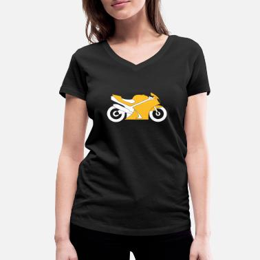 Motorcycle Crash Motorcycle - Women's Organic V-Neck T-Shirt by Stanley & Stella