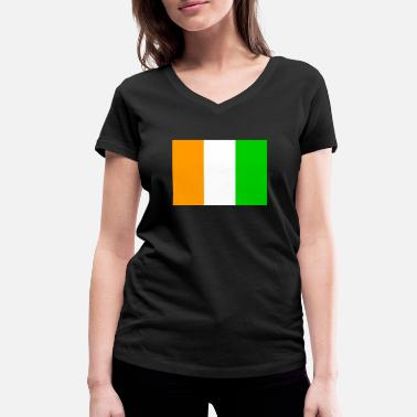Cis Flag of Ivory Coast (ci) - Women's Organic V-Neck T-Shirt by Stanley & Stella