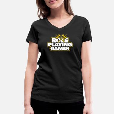 Role Playing Game role playing game - Women's Organic V-Neck T-Shirt by Stanley & Stella