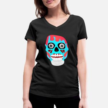 Consume They Live - Skull - Obey Consume Watch TV - Shirt - Women's Organic V-Neck T-Shirt by Stanley & Stella