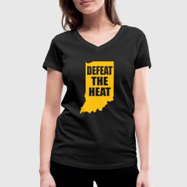 Defeat the heat - Women's Organic V-Neck T-Shirt by Stanley & Stella