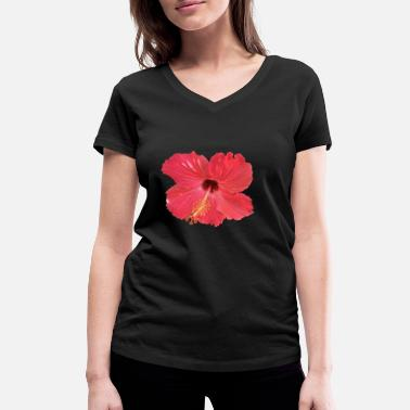 Tropic Flower - Women's Organic V-Neck T-Shirt by Stanley & Stella