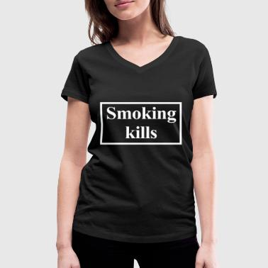 Death Cigarette Smoking kills cigarettes Smoking kills - Women's Organic V-Neck T-Shirt by Stanley & Stella