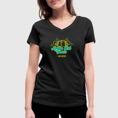 Après Ski Team Arlberg JGA Party Hut T-Shirt - Women's Organic V-Neck T-Shirt by Stanley & Stella