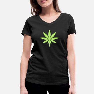 Hemp Leaf Hemp leaf - Women's Organic V-Neck T-Shirt by Stanley & Stella