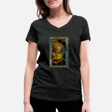 Look Out Looking Out On The Shining Path - Women's Organic V-Neck T-Shirt
