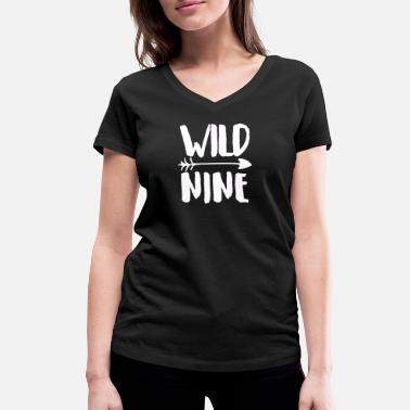 Nine Kids Wild Nine - Women's Organic V-Neck T-Shirt by Stanley & Stella