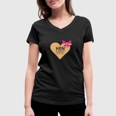 Hen Party, Bachelorette Parties, Hen Nights - Women's Organic V-Neck T-Shirt by Stanley & Stella