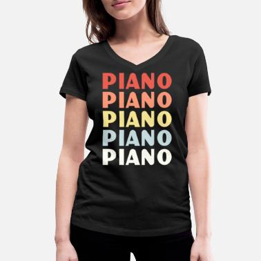 Lessons Piano Lesson - Women's Organic V-Neck T-Shirt by Stanley & Stella