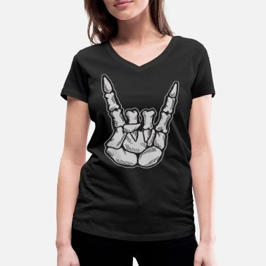 Rock And Roll Rock and roll - T-shirt bio col V Femme