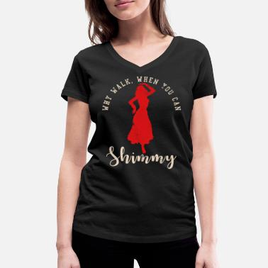 56942f9a2a5d Belly Belly Dance Design - Frauen Bio-T-Shirt mit V-Ausschnitt von