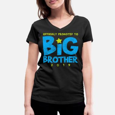 Big BIG BROTHER SHIRT - Women's Organic V-Neck T-Shirt