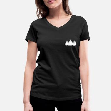 Chest Forest on the chest - Women's Organic V-Neck T-Shirt by Stanley & Stella