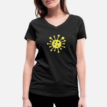 Virus Virus - Women's Organic V-Neck T-Shirt by Stanley & Stella