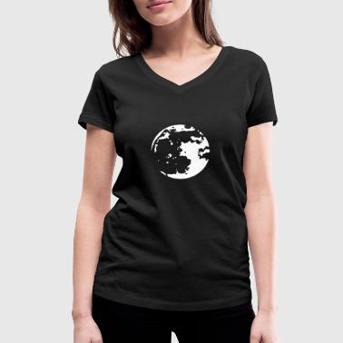 Moon Stencil - Women's Organic V-Neck T-Shirt by Stanley & Stella