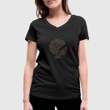 African Music african american - Women's Organic V-Neck T-Shirt by Stanley & Stella