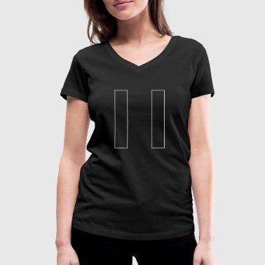 Fuck Buttons break button lazy tired - Women's Organic V-Neck T-Shirt by Stanley & Stella