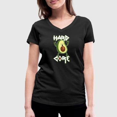 Teschio Hard Rock Avocado - Hard Core - Metal - Rock - Lustig -Humor - T-shirt ecologica da donna con scollo a V di Stanley & Stella