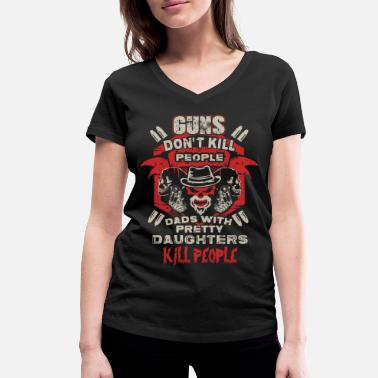 Daughter DAD - PRETTY DAUGHTER - GUN - EN - Vrouwen bio T-shirt met V-hals van Stanley & Stella