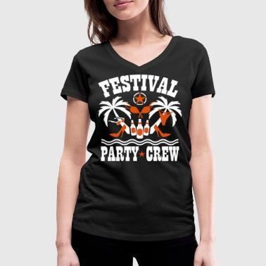 Beach Party Crew Festival Party Crew Palm Beach Fun Funny  - Frauen Bio-T-Shirt mit V-Ausschnitt von Stanley & Stella